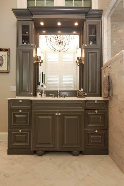Chicago Custom Cabinets   Bathroom Vanity