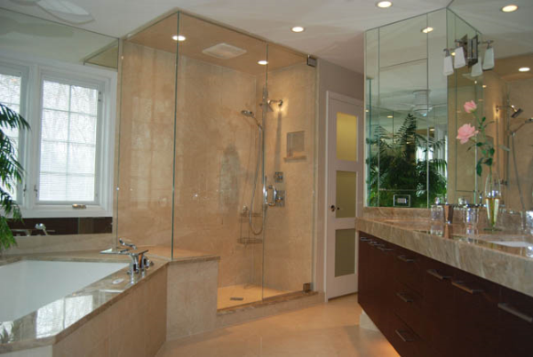 Glass Enclosed Shower - Design Decoration