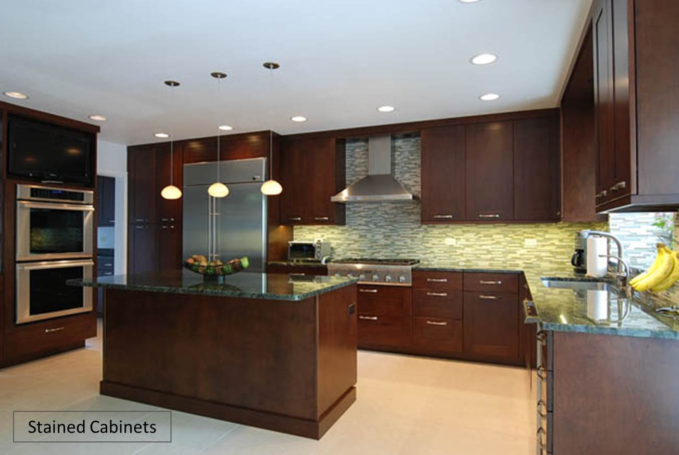Painted Kitchen Cabinets Vs Stained custom kitchen cabinets: painted vs. stained