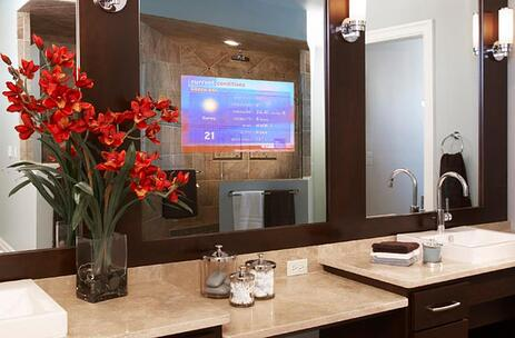 chicago bathroom remodeling ideas electric mirrors and tv mirrors - Bathroom Remodel Mirrors